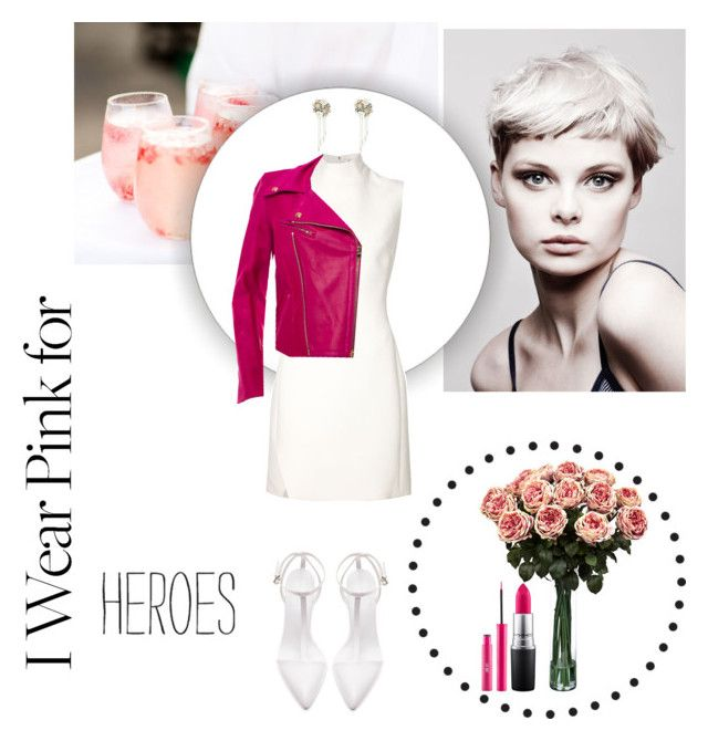 """Love and Heroes"" by anettismyname ❤ liked on Polyvore featuring Angelo, Thierry Mugler, Emilio Pucci, Zara, Betsey Johnson, MAC Cosmetics and IWearPinkFor"