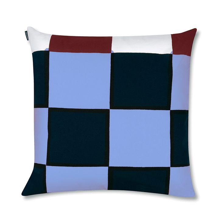 Marimekko Kukko Ja Kana Bright Multicolor Throw Pillow