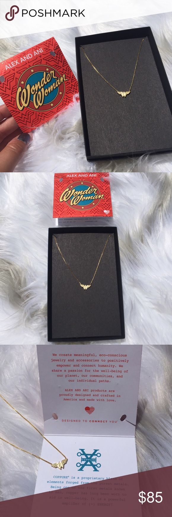 ✨NEW Alex & Ani 14KT Gold Wonder Women Necklace •brand new!!! •new collection •wonder women logo!!! •must need •14KT gold plated •21 inch adjustable chain necklace Alex & Ani Jewelry Necklaces