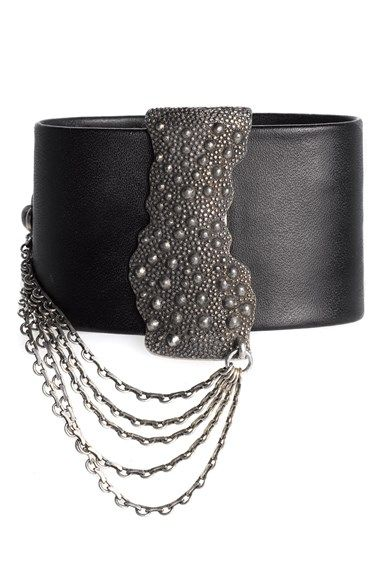 Trouve Trouvé Magnetic Strip Leather Bracelet available at #Nordstrom