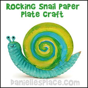 Rocking Snail Paper Plate Craft for Kids from www.daniellesplace.com