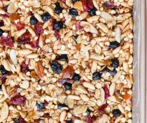barrette ai cereali e frutta secca