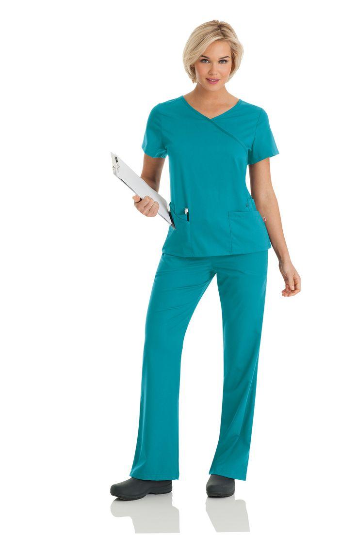 "Urbane Ultimate: ""Sophie"" tunic in Teal. #urbane #scrubs #medical #fashion #urniforms #hospital #nurse #nursing #rn #lpn #lvn #cna #dental #hygienist #vet #tech #spring #green #march #stretch"