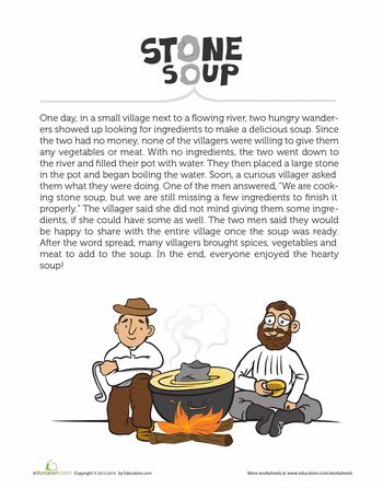 This is a picture of Lively Stone Soup Story Printable