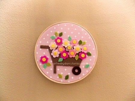Quadrinho bastidor Carrinho de Flores #1