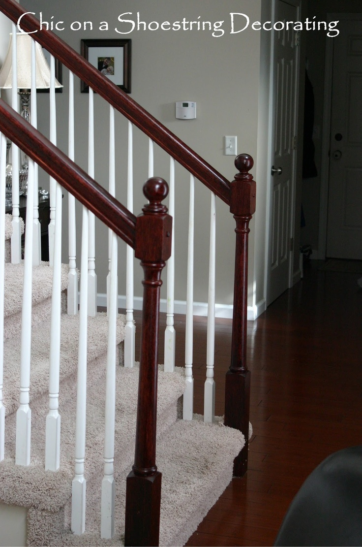 Stair Railings and turned Newel Posts.