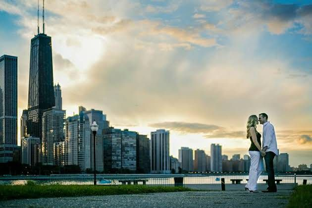Chicago Engagement Photo Location Milton Lee Olive Park