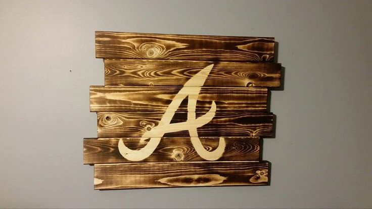 Atlanta Braves wall art by CarolinaPalletDesign on Etsy https://www.etsy.com/listing/217910816/atlanta-braves-wall-art