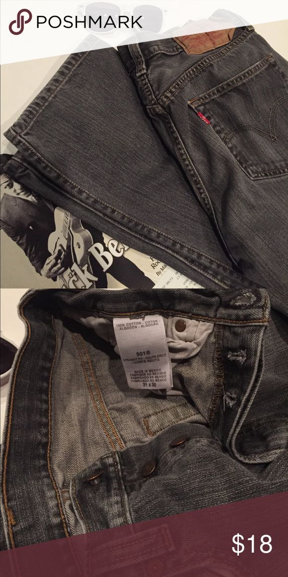 👖Gray Levi's 505 button fly jeans👖 Classic 505 button fly 505 jeans. Good condition. Nicely broken in! Levi's Jeans Bootcut