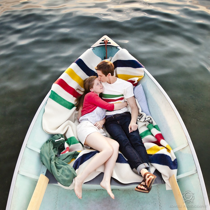 Hudson's Bay inspired engagement http://rowellphoto.com/kristine-alan-canada-day-barrie/