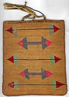 Nez Perce corn husk bag - inspiration, I love the pattern