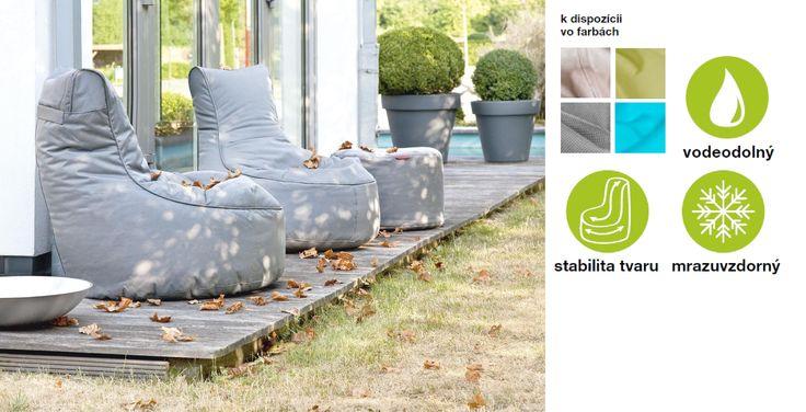 """vonkajší sedací vak """"OUTBAG""""  jednoducho geniálne riešenie sedenia na záhrade či terase"""