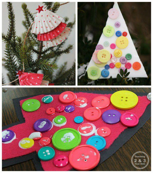 Kerst - Knutselideeën voor 2 en 3 jarigen -Simple christmas crafts - Teaching2and3yearolds