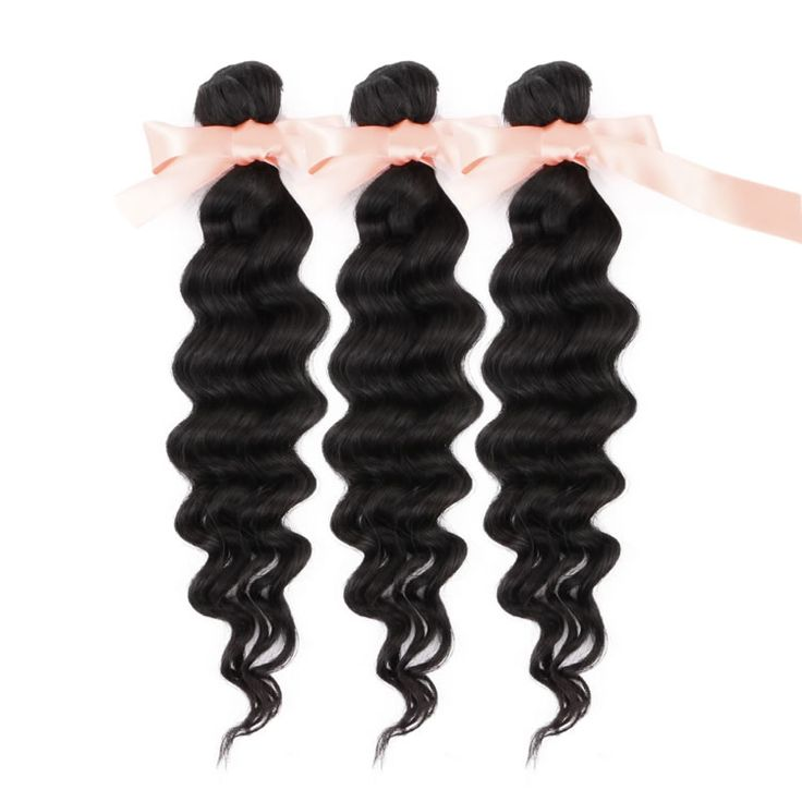 Malaysian Deep Wave Virgin Remy Hair Extensions 16 Inch To 32 Natural Color 100g