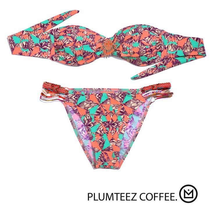 AuthenticPlumteezstrapless bikini in Coffee from the HipanemaAmenapih summer collection. Grab all the attention with the joyful PlumteezHipanemabikini, it
