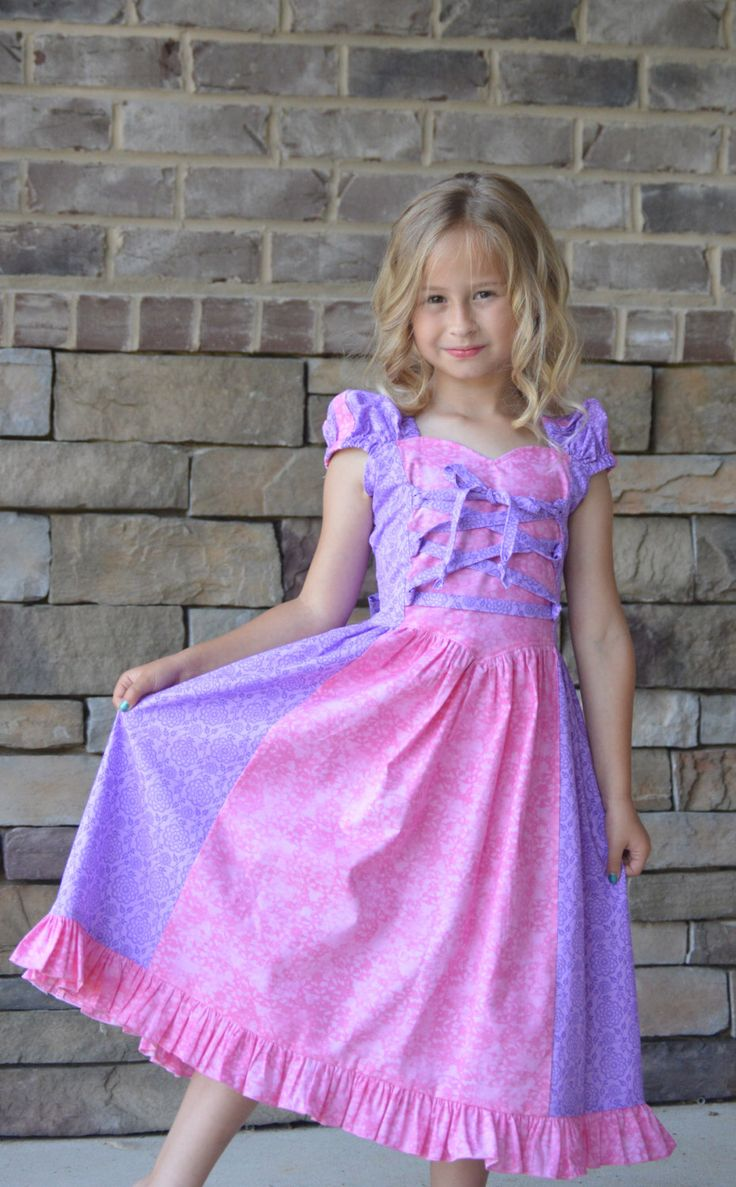 Rapunzel Tangled dress sundress costume by tootietots on Etsy https://www.etsy.com/listing/233526161/rapunzel-tangled-dress-sundress-costume