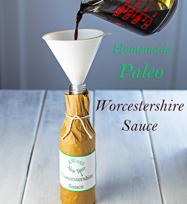 This Homemade Paleo Worcestershire Sauce is a so easy to make and it keeps well in the refrigerator.