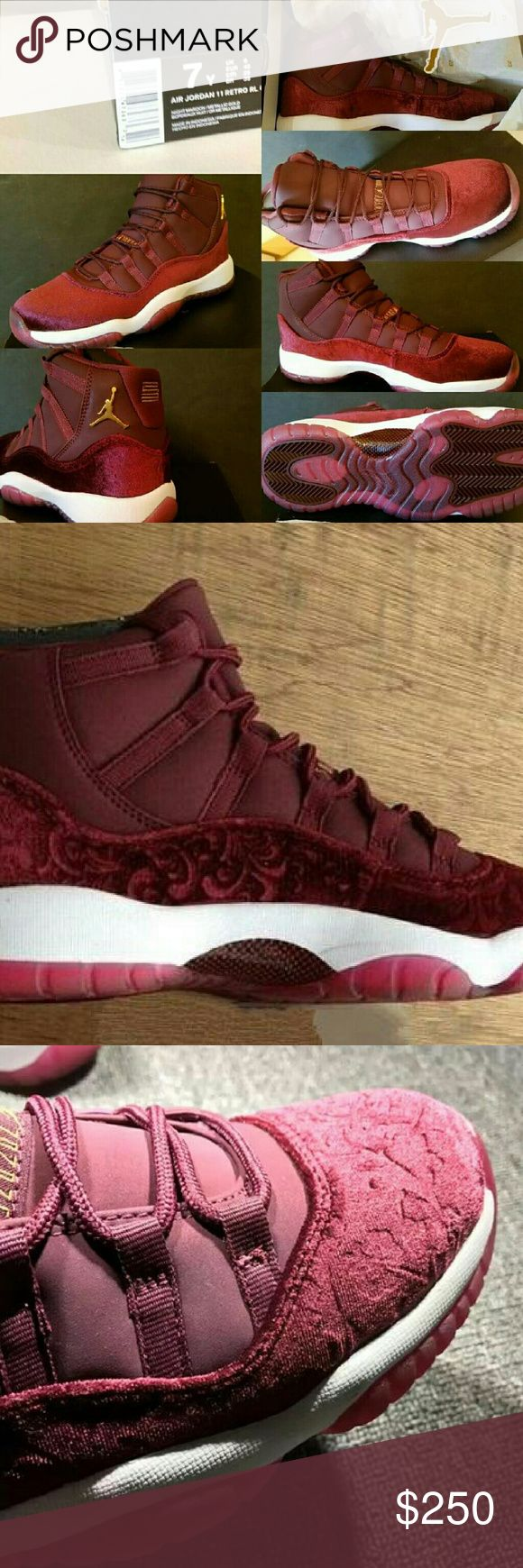 """Jordan XI Retro 11 """"HEIRESS"""" RED VELVET Night Maro I can get any size between  a 4 and 9.5. Jordan Shoes Sneakers"""