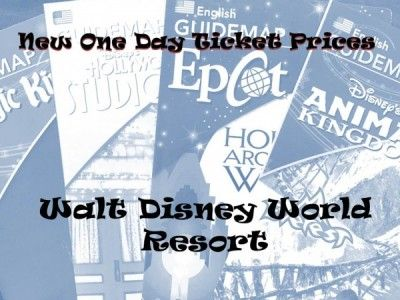 New One Day Walt Disney World Ticket Prices