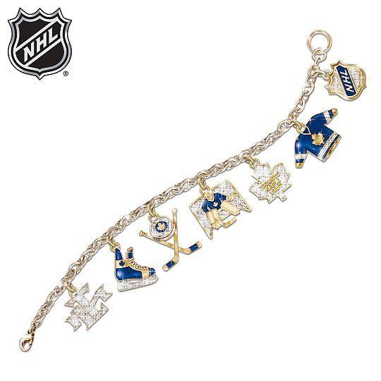 NHL® Toronto Maple Leafs® Charm Bracelet: Collectible Hockey Jewellery