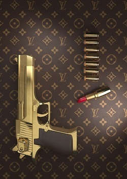§ Vuitton lipstick?? If only this was real......a billionairess would want it!