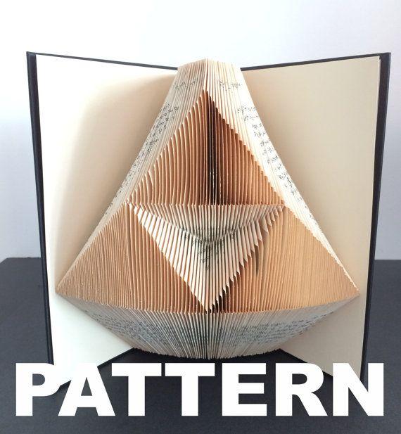 Book Folding Pattern  Triforce  Free by BookFoldingAustralia