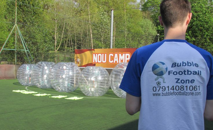 Bubble football zone at Goals glasgow south