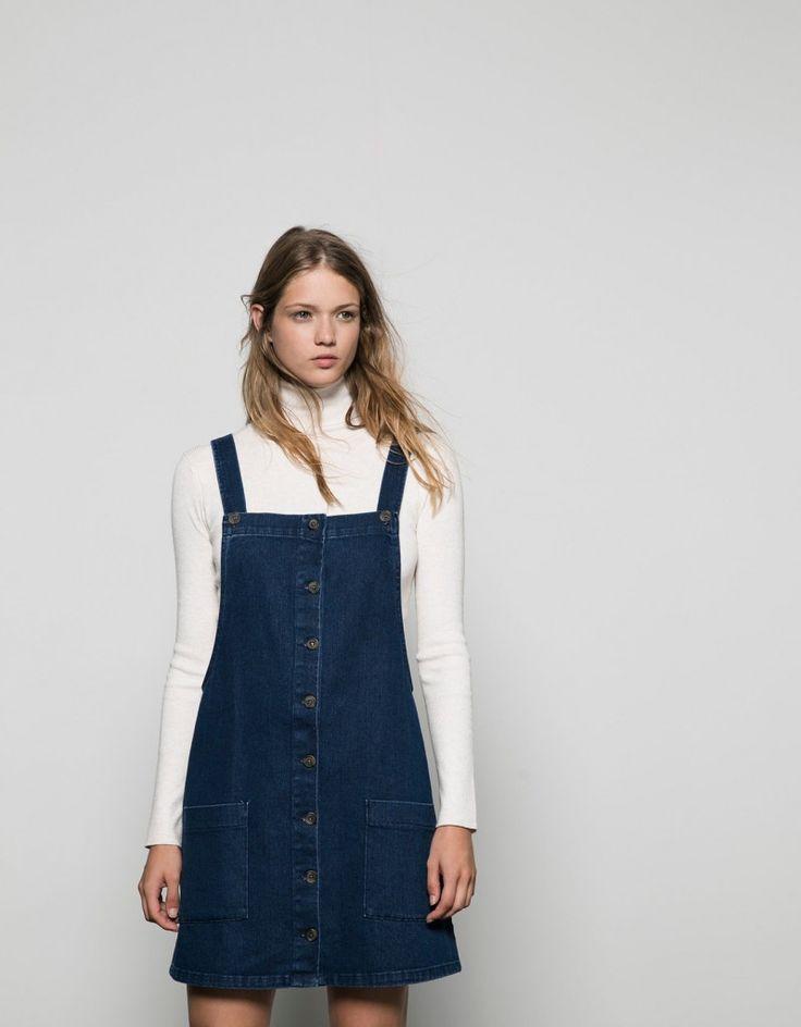 Πέτυχε τα πιο μοντέρνα σύνολα με μία denim σαλοπέτα-φόρεμα - JoyTV