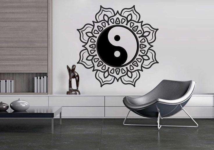 Wandtattoo - Wandtattoos Wandaufkleber Yin Yang Orientalisch - ein Designerstück von taia-s bei DaWanda