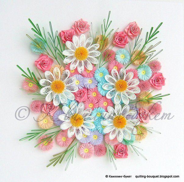 Квиллинг букет светлана сигунина, роз новосибирск