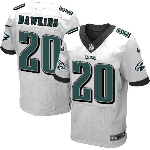 $24.99 Nike Elite Brian Dawkins White Men's Jersey - Philadelphia Eagles #20 NFL Road