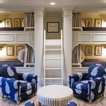 Bunk Beds With Desk Underneath Design Ideas, Pictures, Remodel, and Decor