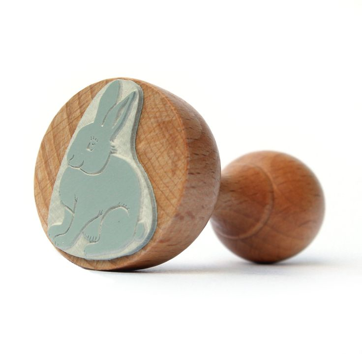 Rubber stamp from Malu Studio #rabbit #rubberstamp #wood #animals #paper #art #design #fun #gift #creative #pattern #ink #kids #children #scrapbooking