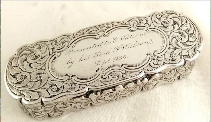 ANTIQUE STERLING SILVER SNUFF BOX, ANTIQUE SOLID SILVER, EXCELLENT CONDITION