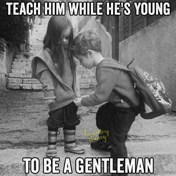 Teach him while he's young to be a gentleman. #countryboy #cowboy #gentleman…
