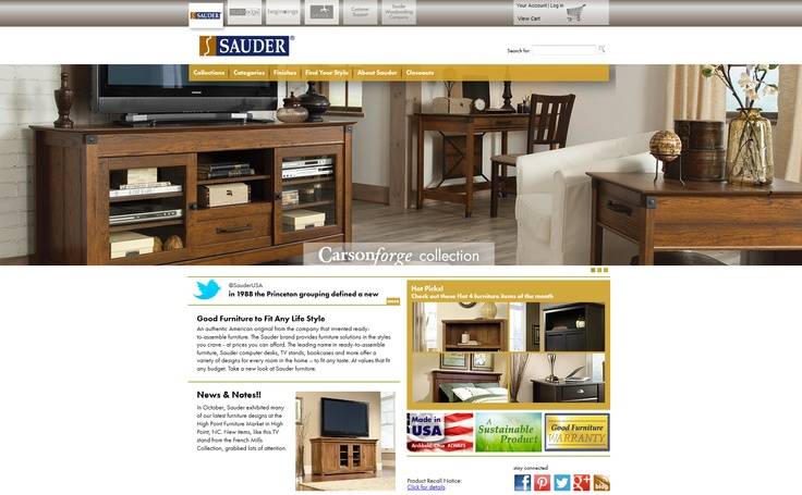 Best Integration  Sauder - http://www.sauder.com  Implemented by BizStream  Sauder is North America's leading producer of ready-to-assemble furniture, and they wanted to feature their brands and products at a finer level while offering a better customer experience to visitors. They chose Kentico EMS as their platform because of its rich feature set and content personalization capabilities. http://www.kentico.com/Customers/Site-of-the-Year/Site-of-the-Year-2012