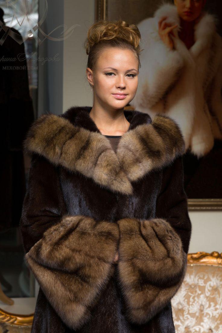 mink and seble, fur coat