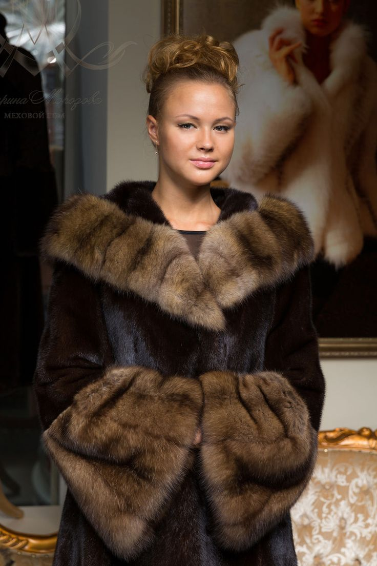 mink and seble, fur coat