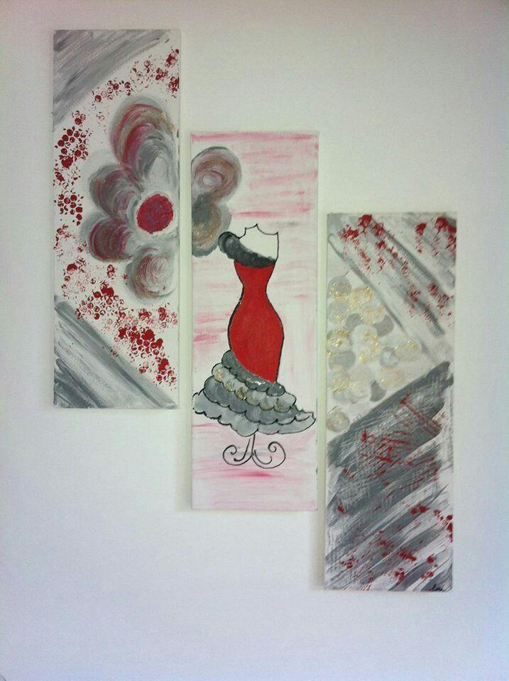Peinture sur toile et powertex
