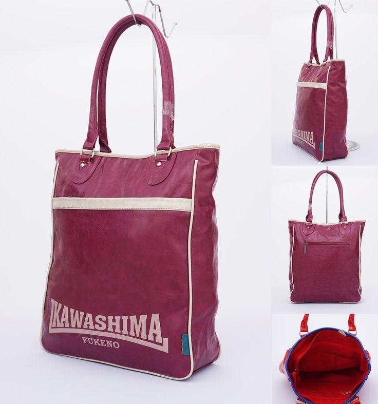 Tas Kawashima tote casual, tebal dan cantik.  Cocok untung hangout. Warna ungu. Uk 35x39
