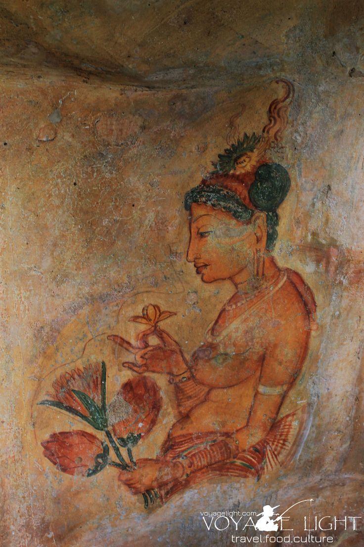 The fresco paintings, Sigiriya
