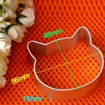 Natal cozinha ferramentas liga de alumínio em forma de gato cabeça Fondant biscoito bolo Sugarcraft êmbolo cortador grátis frete