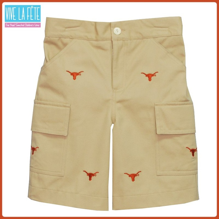 Texas Longhorns smocked and embroidered kids clothing