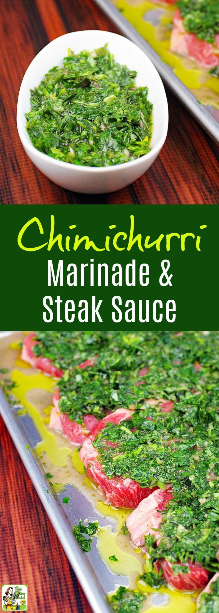 Making the Best Chimichurri Recipe is easier than you think. Click to get this Chimichurri Marinade & Steak Sauce Recipe. Homemade chimichurri sauce is perfect for marinating and serving with grilled skirt steak or flank steak. #marinade #marinate #sauce #steak #chimichurri #homemade #homemadesauce #flanksteak #skirtsteak #grilling #recipe #easyrecipe #steaks