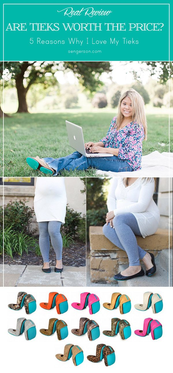Find out why Tieks are worth their hefty price tag as well as tips on how to not make them stinky! This mom breaks out why she loves them (wearing them through pregnancy, all day photoshoots, corporate work, and even at the gym). Mom blogger at www.sengerson.com provides a real life review as well as tips on how to not make them stinky!