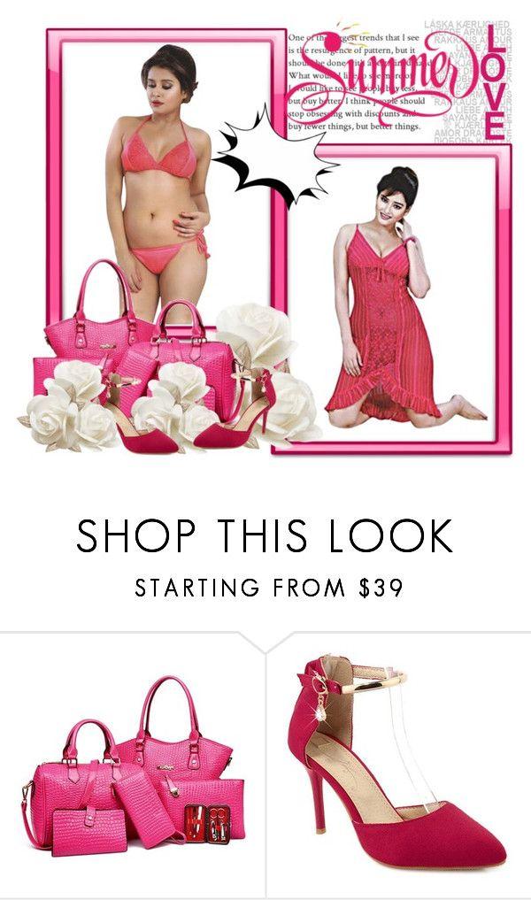 """HOT BRIDAL NIGHTWEAR NIGHT DRESSES"" by lavanyas-trendzs ❤ liked on Polyvore"
