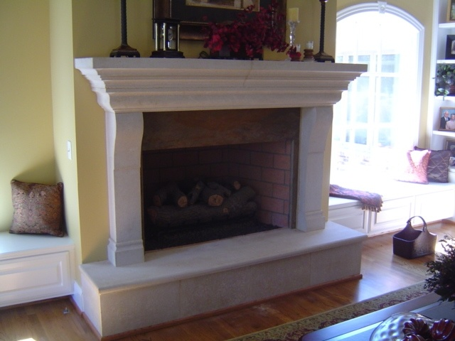 Idea For Upstairs Fireplace Drywall Over Brick And Add