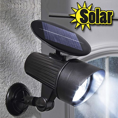 Motion Activated Solar Floodlight Sheds 100 Sq Ft Of