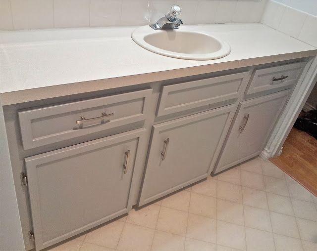 LoveLife&DIY: Bathroom Vanity Makeover #coventry gray benjamin moore
