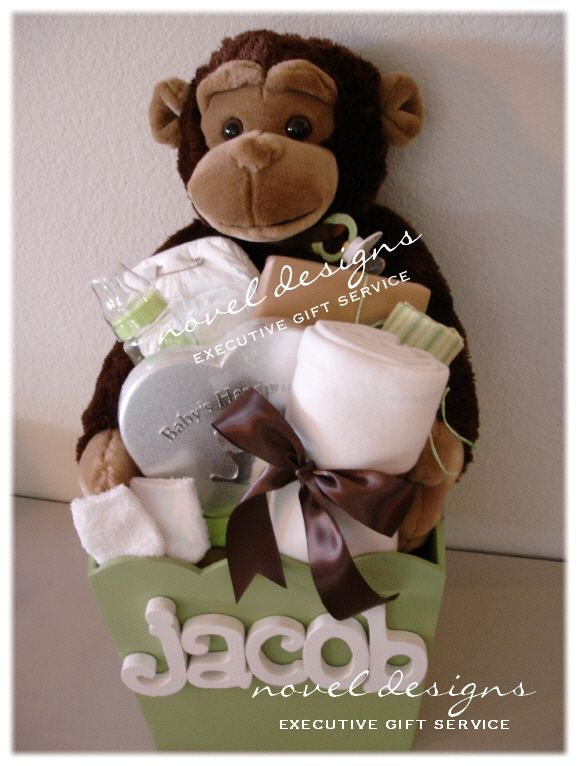 42 best baby gift baskets all things baby images on pinterest baby boy personalized gift box basket love the monkey and the colors negle Image collections